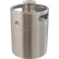64 oz stainless steel mini keg for craft beer bar brewery