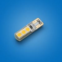 Top Quality 2PCS T10 W5W 1.5W 6 SMD 5050 Canbus Error Free Car Auto LED Light Lamp Interior Tail Side Bulb 90Lumen DC12V
