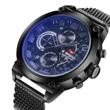 Часы Naviforce мужские, спортивные, из нержавеющей стали, аналоговые, кварцевые(Китай)