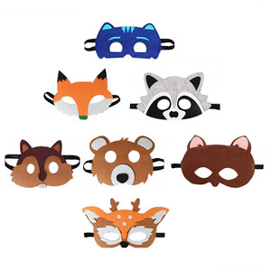 B881 Forest Friends Animal Face Masks Halloween Christmas Kids Dress-Up Costume Party Favors Different Types of Mask