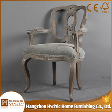 Import baroque french style antique wood dining chair home furniture