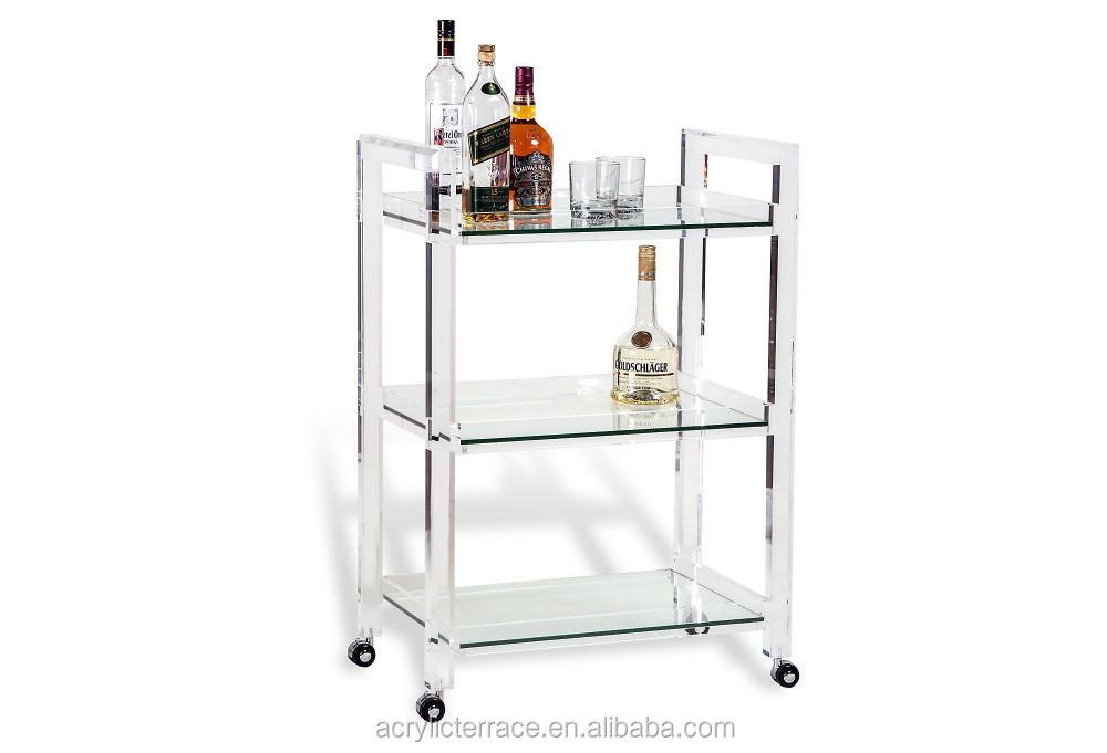 Servierwagen Glas klaren acryl bar servierwagen glas regal buy product on alibaba com