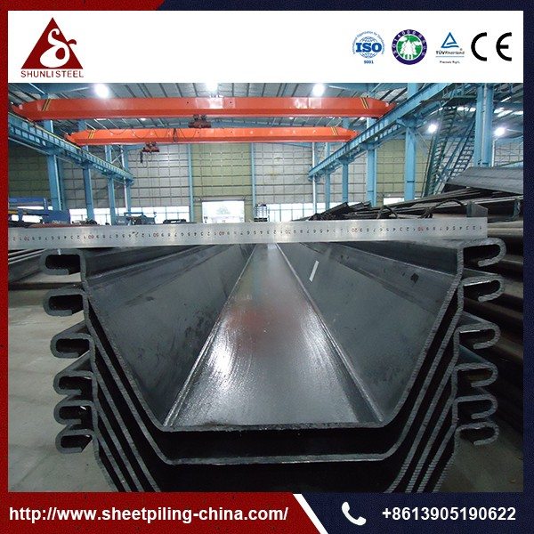 Pz27 Sheet Pile U Type Sheet Piling Shunli Steel Group