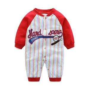 100% Cotton Cute Sport Style Organic Baby Clothes Romper Boy