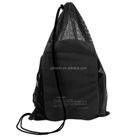 China Supply foldable men mesh drawstring backpack bag for beach/swimming/sports