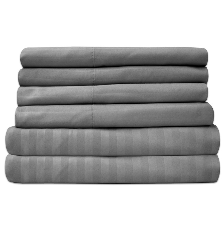 Plain Comfortable Promotional Organic 100% Cotton Fabric Bed Sheet Set