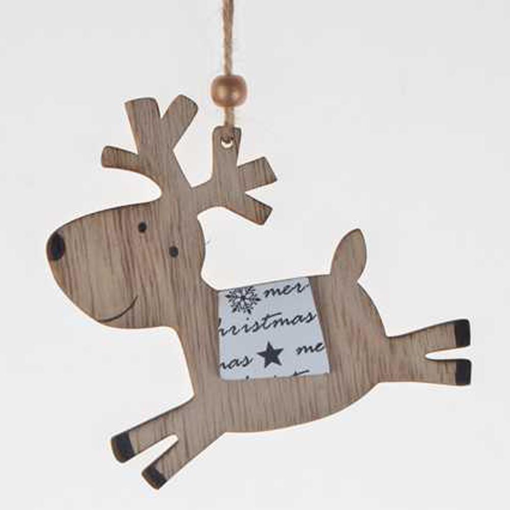 kundenspezifische laser geschnitten weihnachtsdekoration pferd holz