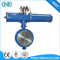Spring Loaded Return Price List A216 WCB Flange Type Butterfly Valve