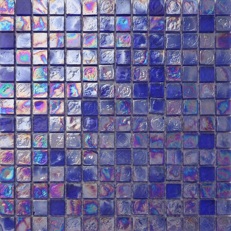 ljo jy-g-78 decorativi blu iridescente mosaico di vetro piastrelle ... - Blu Piastrelle Del Bagno Mosaico