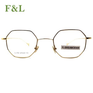 2018 New Model Chinese Simple Design Metal Eyeglasses Optical Eyewear Frame