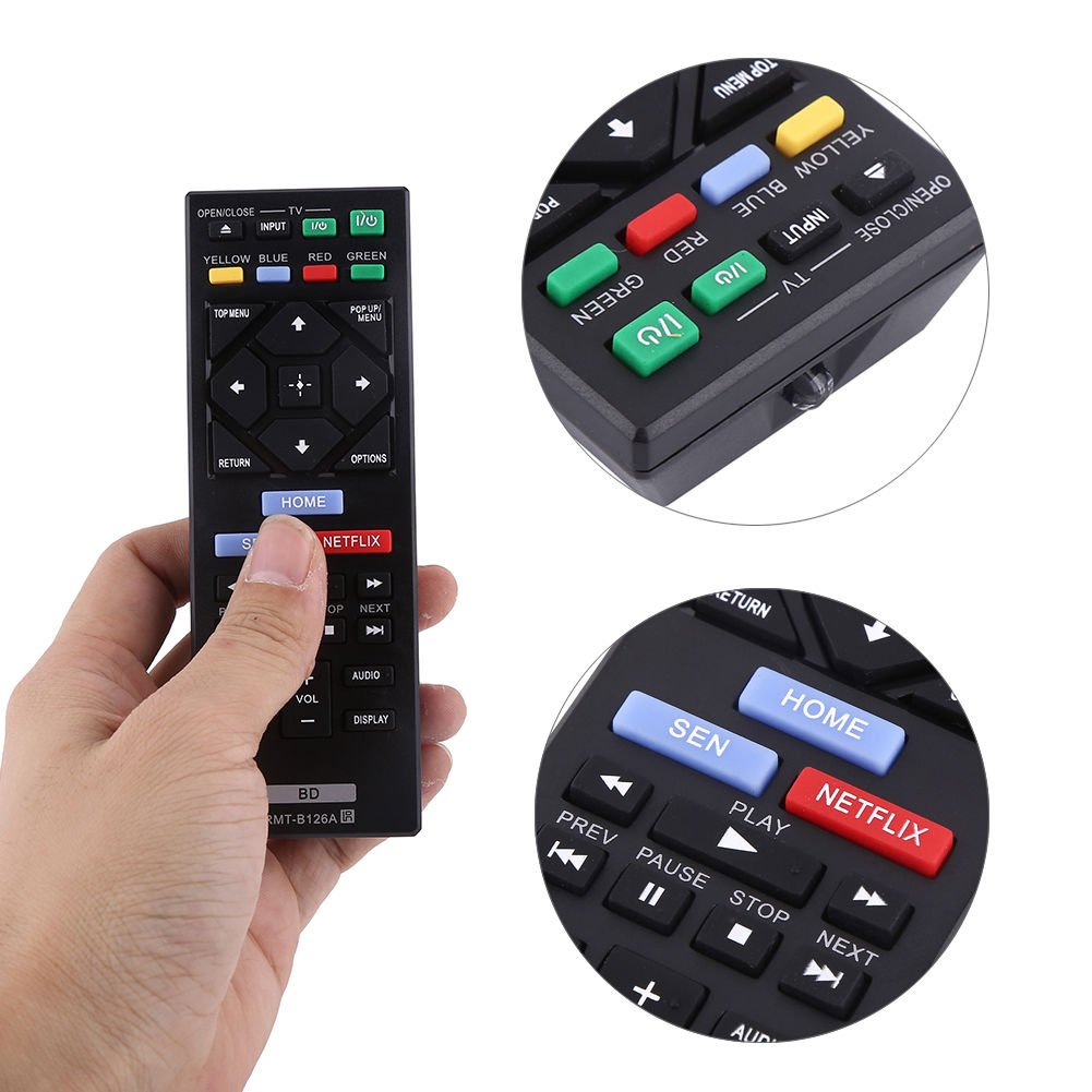 Replacement Remote Control for Sony BLU RAY DISC PLAYER BDP-S6200 BDPS6200