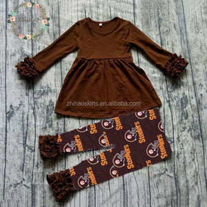 wholesale 2 pcs Baby Girls long sleeve top and pants Outfits baby girls clothes set childrens boutique clothing set