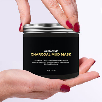 Face Deep Detoxifying Cleansing Activated Charcoal Mud Mask