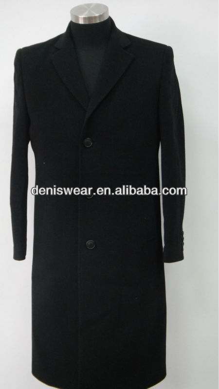 Mens knee length long formal coat
