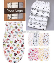 Wholesale custom 100% cotton bamboo muslin blanket baby swaddle wrap