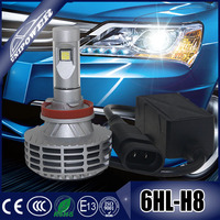 2015 newest G8 6000lm brightest led headlight kit H11 9012 H16 H4 H7 showing on 2015 SEMA auto fair