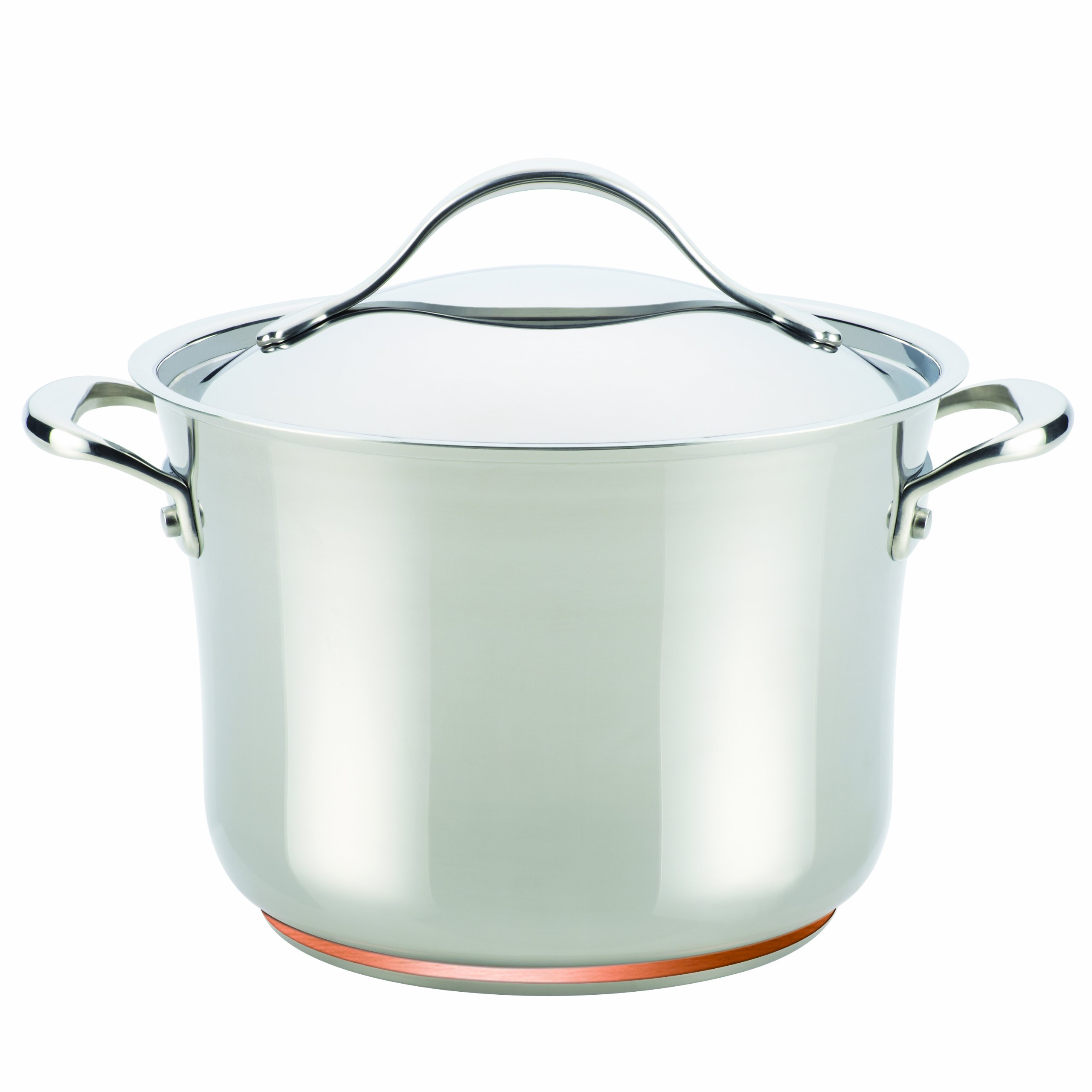 Anolon Nouvelle Copper Stainless Steel 6.5-Quart Covered Stockpot