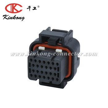 26 way female 1.0 series double locking auto connector 1-1447232-7