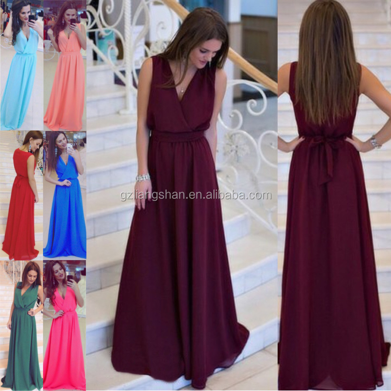 2017 Hot Baru Wanita Bridesmaid Gown Formal Prom Bola Evening Party Cocktail Long Dress