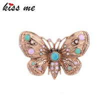 Custom Zinc Alloy Mental Fashion Cheap Jewelry Crystal Butterfly Brooch for Dress brooches Pins