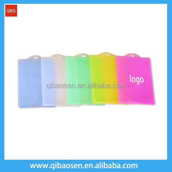 Wholesale custom size soft pvc transparent card holder
