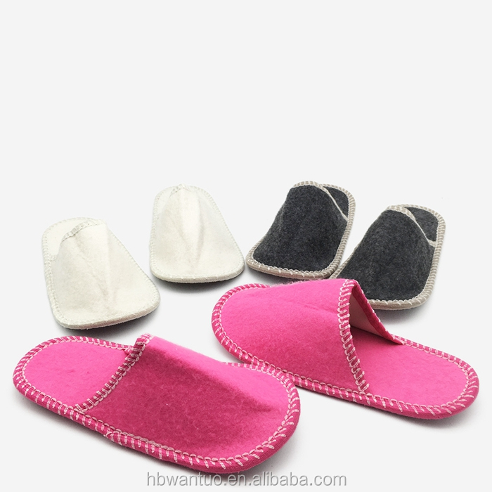 Mannen Wol Huis Slippers Ademend Winter Warm Slip op Memory Foam Indoor Outdoor Vilt Slippers