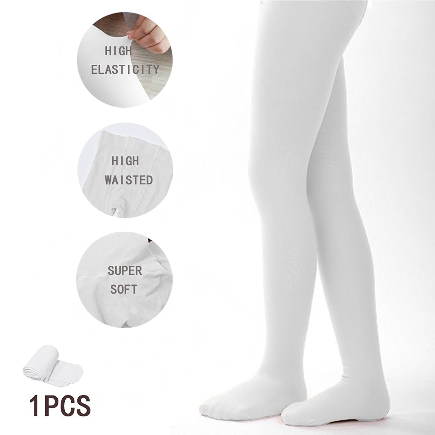 90e7c66cc6d Get Quotations · Tights for Girls Ballet Leotards Toddler Dance Leggings  Pants Footed Kids