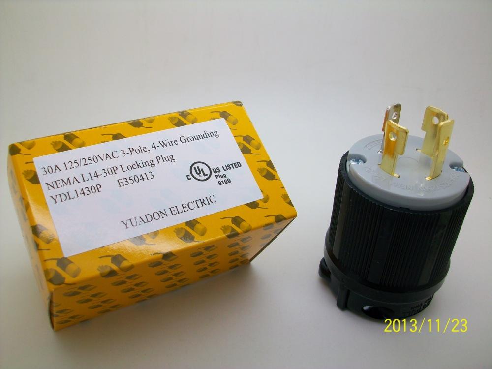 ul listed 2 pole 3 wire 20amp 120v plug wiring nema plug grounding locking  plug