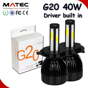 Auto G5 G20 cob car led headlight bulbs 80W 96W, 40W G20 h1 h3 h11 h13 9007 9005 9006 Hb3 Hb4 5202 h4 car h7 led headlight