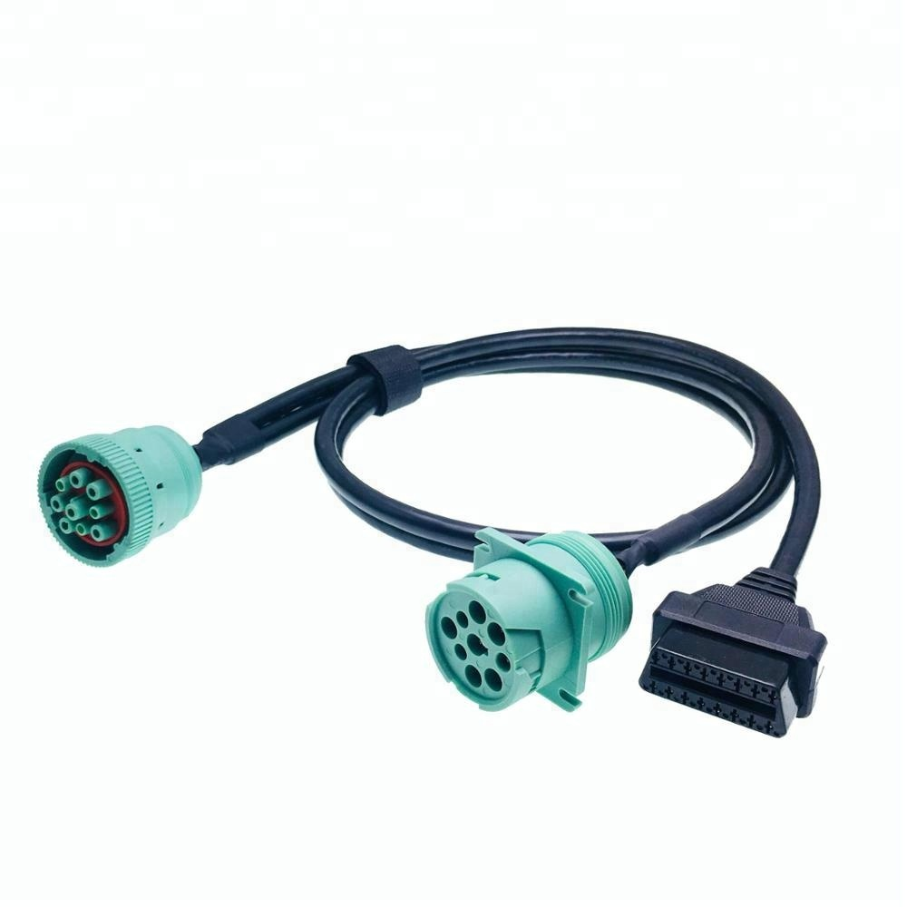 Tipo 2 Verde J1939 Deutsch pin a OBD2 Connettore Splitter Y cable