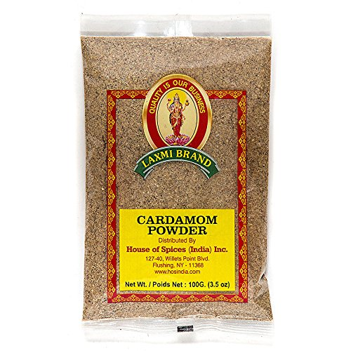 Laxmi Ground Cardamom Powder, Traditional Indian Cooking Spices - 3.5oz