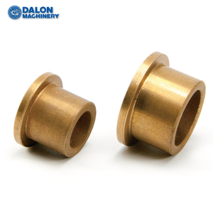 cusn5zn5pb5 flanged graphite filled lead metal bronze bushing