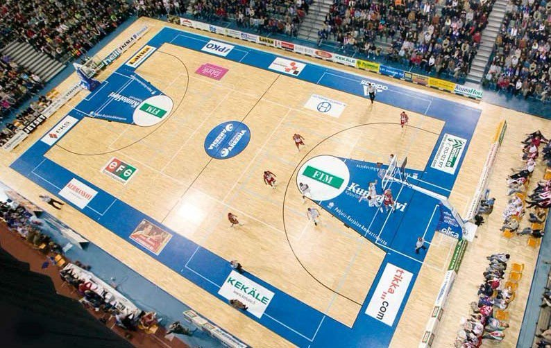 indoor basketball pvc spong flooring surface