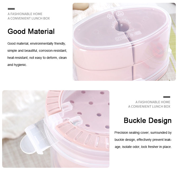 eco-friendly A4002 microwave heating 4 compartments Food Container Lunch Box Set