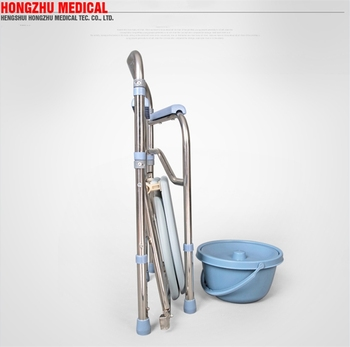 FDA Approved patient folding commode toilet chair for elderly disabled human