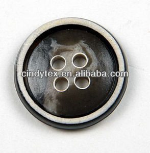 36l chocolate resin horn button