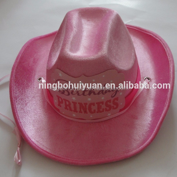 74adcecd19d07 Fashion Pink Princess Cowgirl Hat For Birthday Decoration - Buy ...