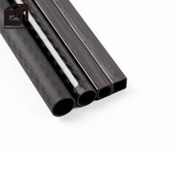 High Pressure 30T 150mm Clear Forged Composite Poles Carbon Fiber Tube