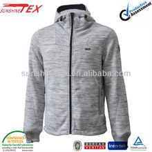 Heather grey sportswear clothes of stocklot mens hoody