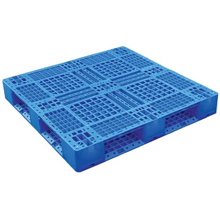 Racking recycled food grade plastic pallet with 3 horizontal bars