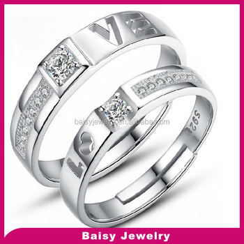Wholesale Price Fashion 925 Silver Dubai Couple Wedding Rings Buy