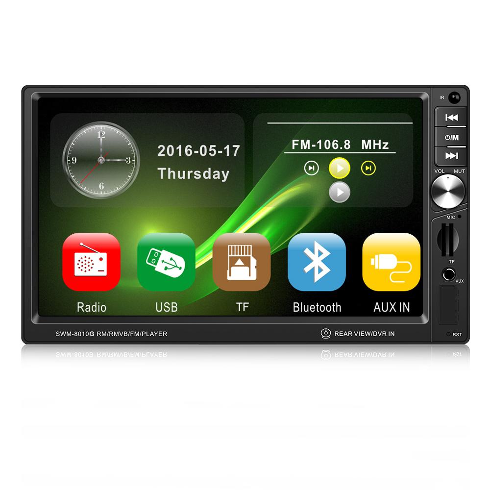 7 Zoll 1 DIN Autoradio MIT GPS Navigation 8G Europe Map Karte Multimedia Player