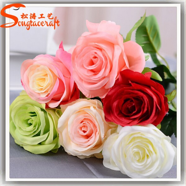 Wholesale artificial single indian miss rose flower for decoration