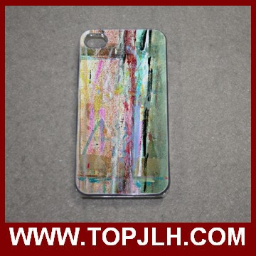 Sublimation phone cover for iphone 4/4S 2D clear PC cases