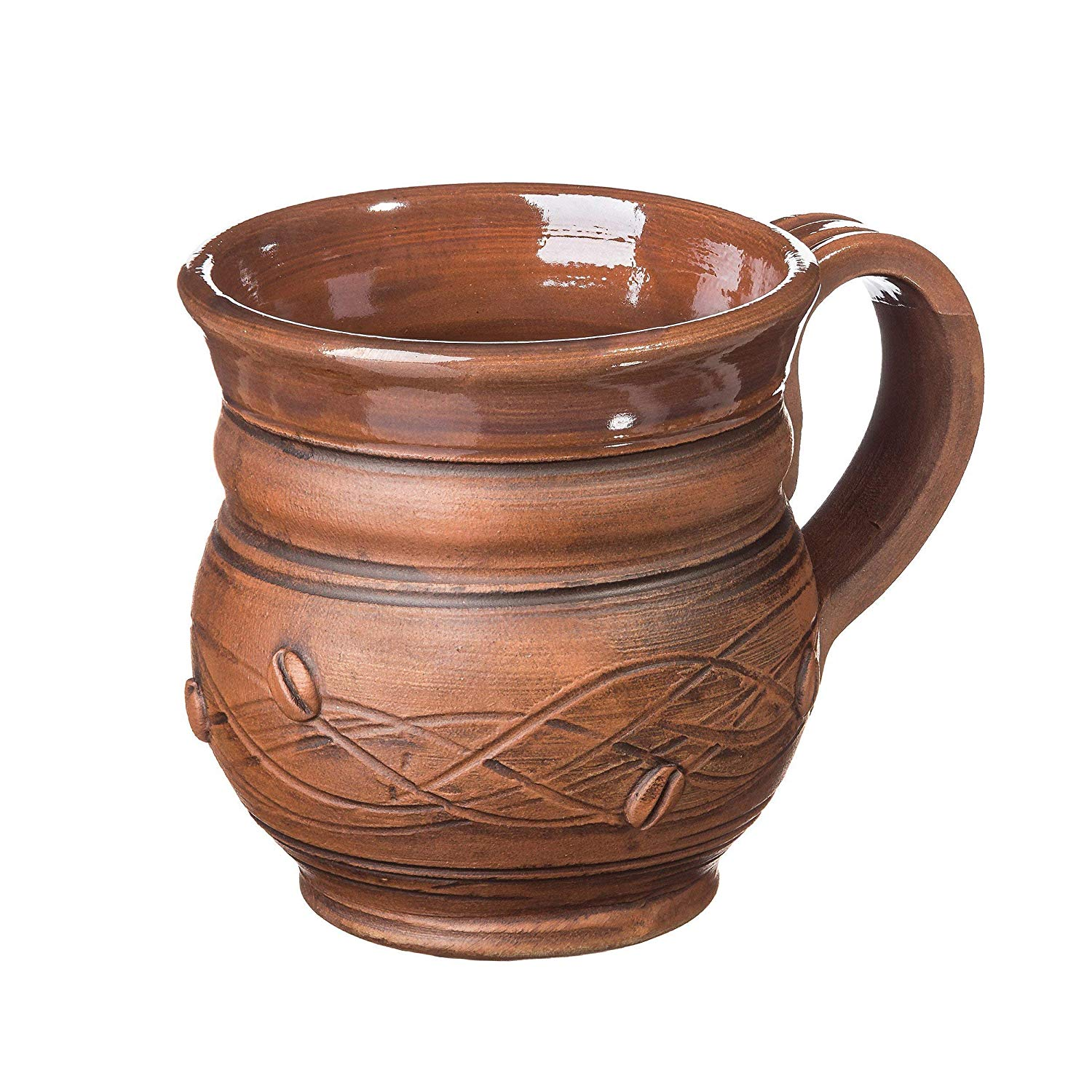 Rustic Ceramic Mug 8.5 oz Handmade Eco Friendly Drinkware