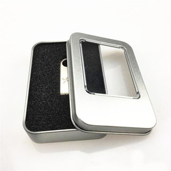 Wholesale Small Rectangular Metal Tin Gift Box For USB Flash Drives