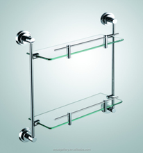 Shower Room Corner Mounted Glass Shelf
