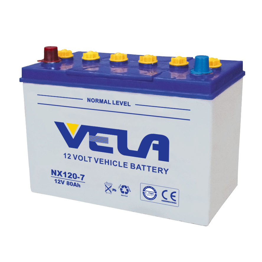 12v 80ah lead acid battery NX120-7 dry charged battery