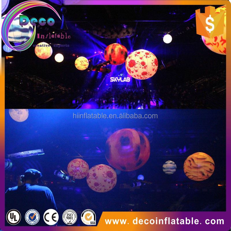 New brand wedding/event/party/night club decoration illuminated with inflatable led ball