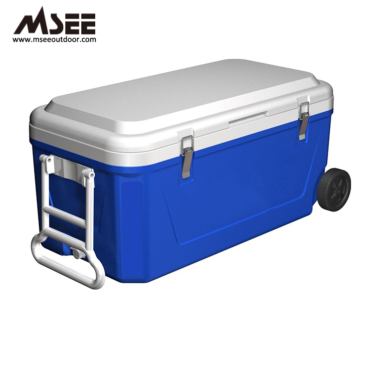 Gıda Sınıfı lldpe Malzeme 50l Soğutucu Kutu Plastik Soğutucu Kutu 45l